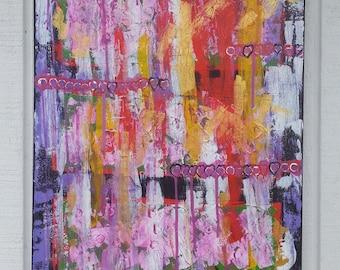 Abstract Painting - Pink Painting - Graffiti Painting