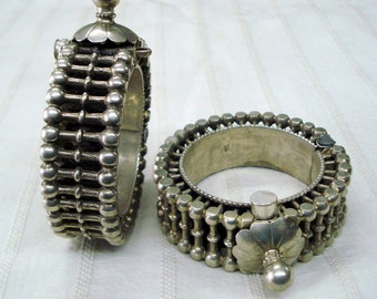 vintage antique old silver bangle bracelet tribal belly dance jewelry gypsy