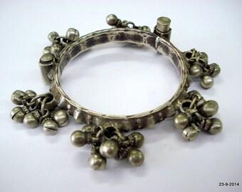 vintage antique ethnic old silver bangle bracelet tribal belly dance