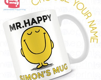 Mr.Men Collection - Personalised Mug - Choose from a collection of Mr.Mens Mugs personalised for you!