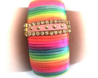 Beatiful bracelet in multicolor neon very fashion handmade!