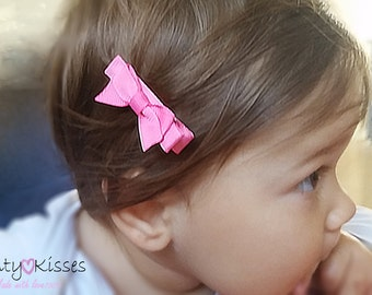 Baby hair clip,baby hair clips,baby hair bow,baby clip bow,hair clip baby,newborn hair clip,toddler hair clip,small hair clip,CHOOSE COLOR