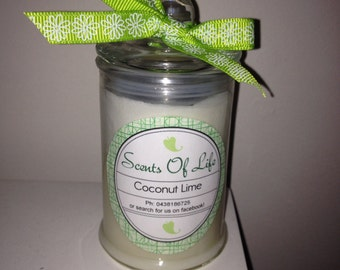 Coconut Lime Soy Candle-Small
