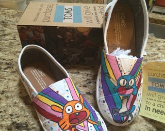 Amazing World of Gumball hand painted TOMS shoes