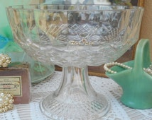 Glass Pedestal Bowl  ~  Italian Made