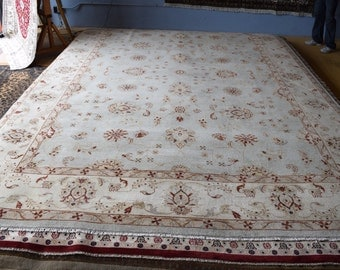 Super Quality Oushak hand knotted area rug 9'9 x 14'3