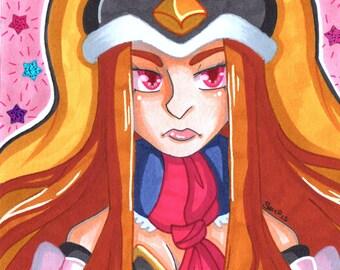 Mawaru Penguindrum Princess of the Crystal Himari Takakura Marker Drawing Original Art