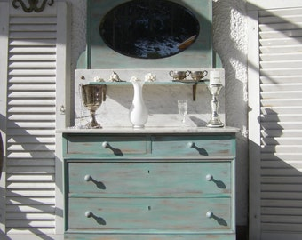 "antique mirror chest of drawers ""Fairy-tale Castle"""