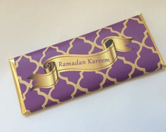Purple and gold wedding, Moroccan tiles, purple and gold baby shower, purple and gold decorations, Islamic gifts, quatrefoil, 24 ct