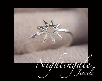 Nine Pointed Star Baha'i Ring - 9 Pointed Star Bahai Ring