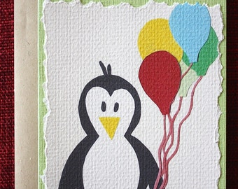 Penguin Birthday Greeting Card
