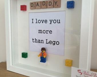 Lego scrabble frame Father's Day