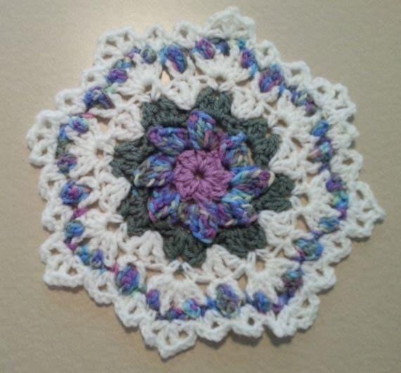 Crochet yarn doily Home decor crochet table topper handmade