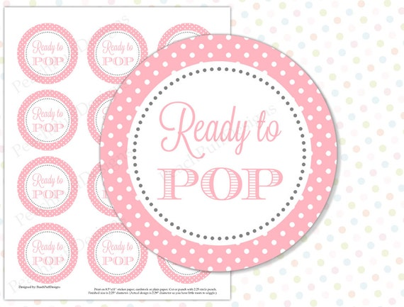 Ready to pop sticker pink instant download ready to pop for Ready to pop stickers template