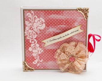 Scrapbook album, Love Scrapbook Album, Family Scrapbook Photo Album, Love Memory Book, Custom Made Love Photo Album