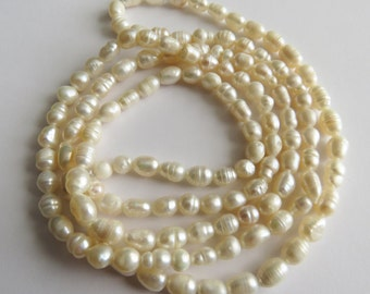 Natural Freshwater Pearl. Continuous Strand / Necklace. 90cm Long.