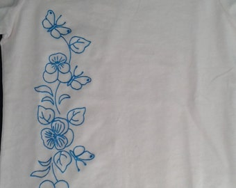 Hand embroidered baby t-shirt