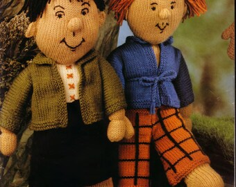 Knitted Dolls and clothing PDF, lovely old pattern
