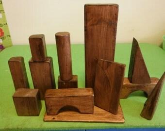 Large Wooden Play Blocks - 100