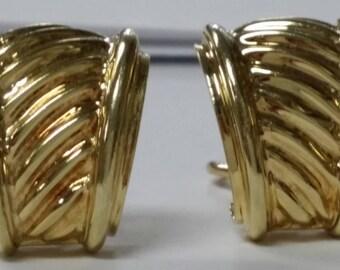 David Yurman 14k Yellow Gold Earrings