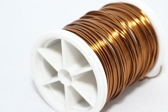 Brown wire 18 20 22 26 and 28 gauge jewelry wire wire for 22 gauge craft wire