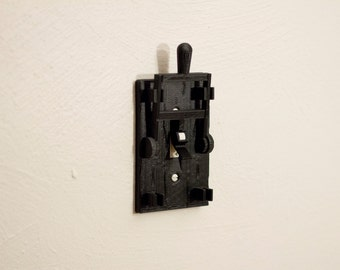 3D printed knife switch light switch cover