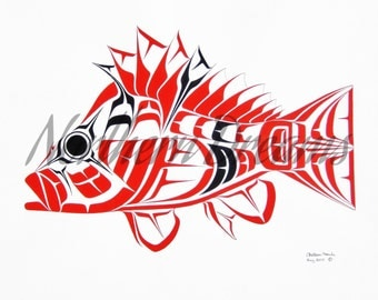 Tiger Rockfish Original Painting