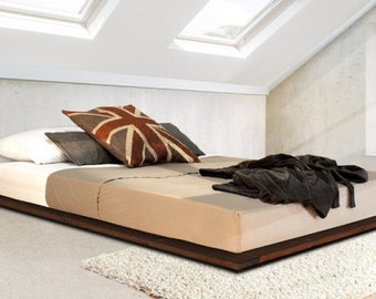 low modern wooden bed frame by get laid beds - Modern Wood Bed Frame