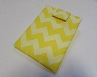 Yellow Chevron E-Reader Sleeve