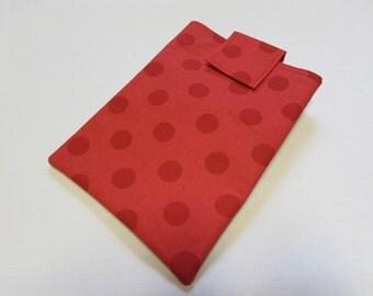 Red Polka Dot E-Reader Sleeve