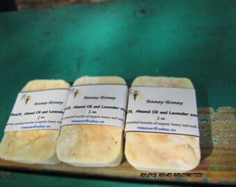 Haney Honey, Natural Handmade Soap Bar, almond and olive oil, 2 oz