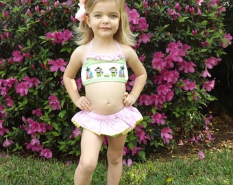 Monkey Smocked Swim Suit
