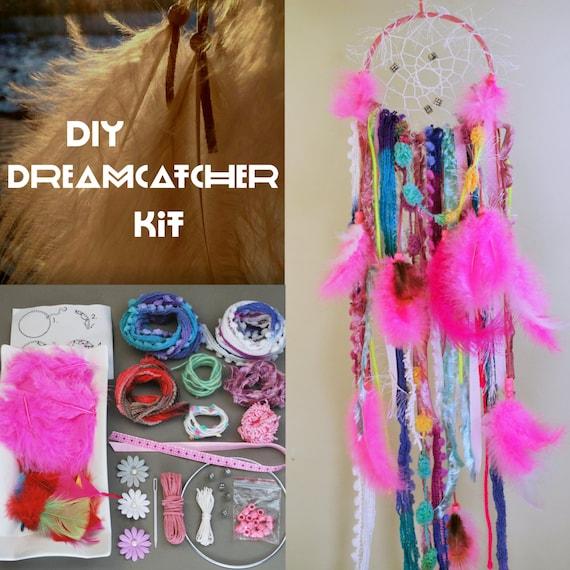 Pink DIY Dreamcatcher Kit. Dream Catcher Kit.