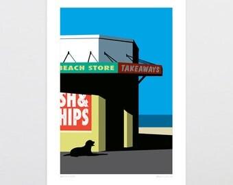 Beach Store Art Print