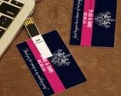 Free shipping Personalized 8GB USB Flash Drive pen drive u disk USB Memory Card Wedding Gifts DIY Photo Text