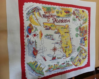 "FLORIDA The Sunshine State Souvenir Table Cloth 49"" x 40"""