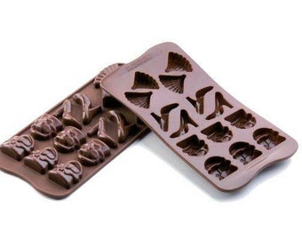 Chocolate Mould-  Fashion design including Handbag, shoes and Fan by Silikomart