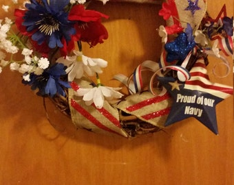 Proud of Our Military Wreath