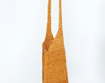 raffia knit bag