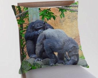 Naughty Monkeys Pillow