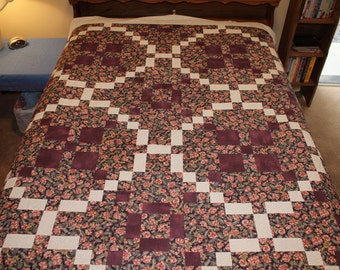 Purple Weave Quilt (Extra Long Twin or Double)