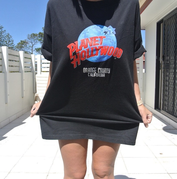 Vintage planet hollywood tshirt by thevintageholiday on etsy for Planet hollywood t shirt