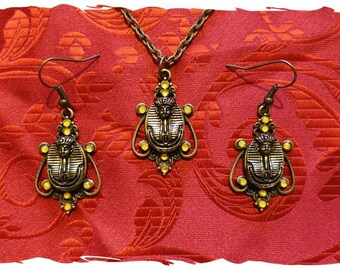 King Rootin Tootin's Pendant and Earrings