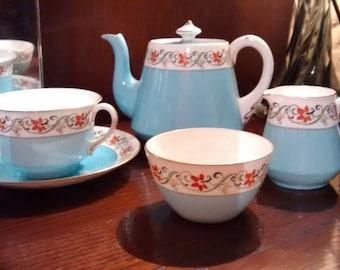 RARE SHELLEY Tea Set 11245/25 c1922-26 New York teapot Norman cup + saucer milk