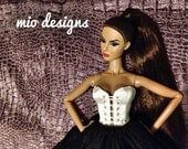 Front Lace Up Silk Corset Bustier for Fashion Royalty, FR2 Dolls CHOICE OF 18 COLORS!