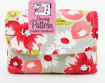 Padded Camera Pouch PDF Sewing Pattern | Drawstring Pouch PDF Pattern