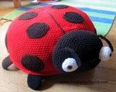 Lady Bug Pouf / Lady Bug Floor Cushion