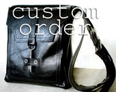 CUSTOM for KARLA - Red Leather Messenger with Antique Key - Deluxe Steampunk Bag MTO