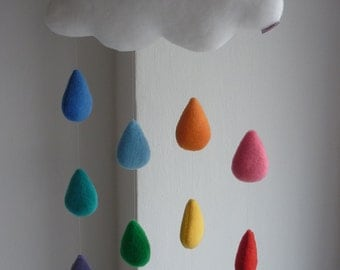 Rainbow Cloud, decorative baby mobile