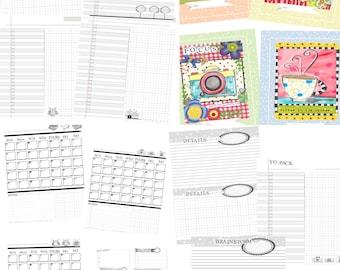 Jennifer Jangles Printable Calendar/Planner PDF